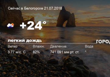 Погода в Белогорске