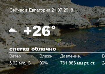 Погода в Евпатории
