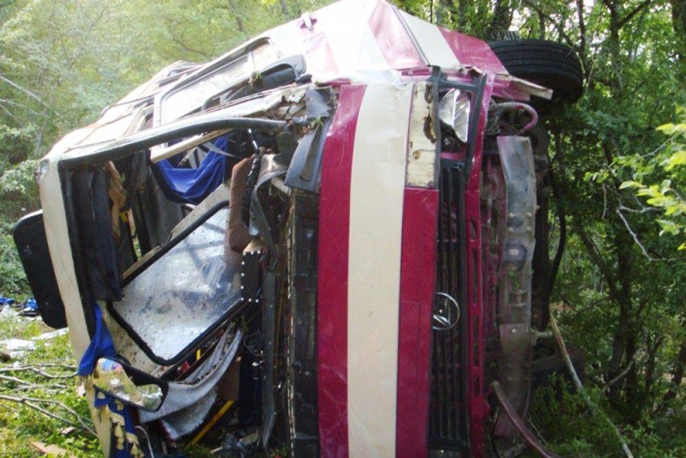 Суд признал виновным в ДТП водителя автобуса, слетевшего с обрыва под Щебетовкой