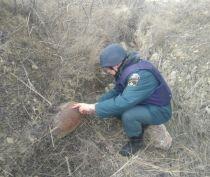 Под Феодосией пиротехники обезвредили фугасную бомбу времен войны