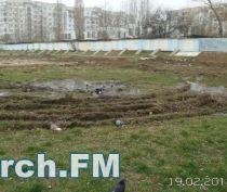 В Керчи на стадионе школы №23 в апреле заменят трубу