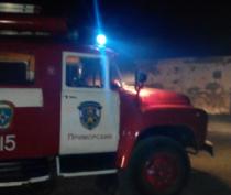 В Приморском тушили пожар