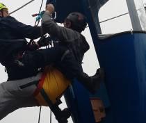 Спасатели отработали эвакуацию застрявшего на канатной дороге в Ялте туриста