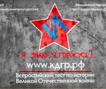 Международная акция «Тест по истории Великой Отечественной войны