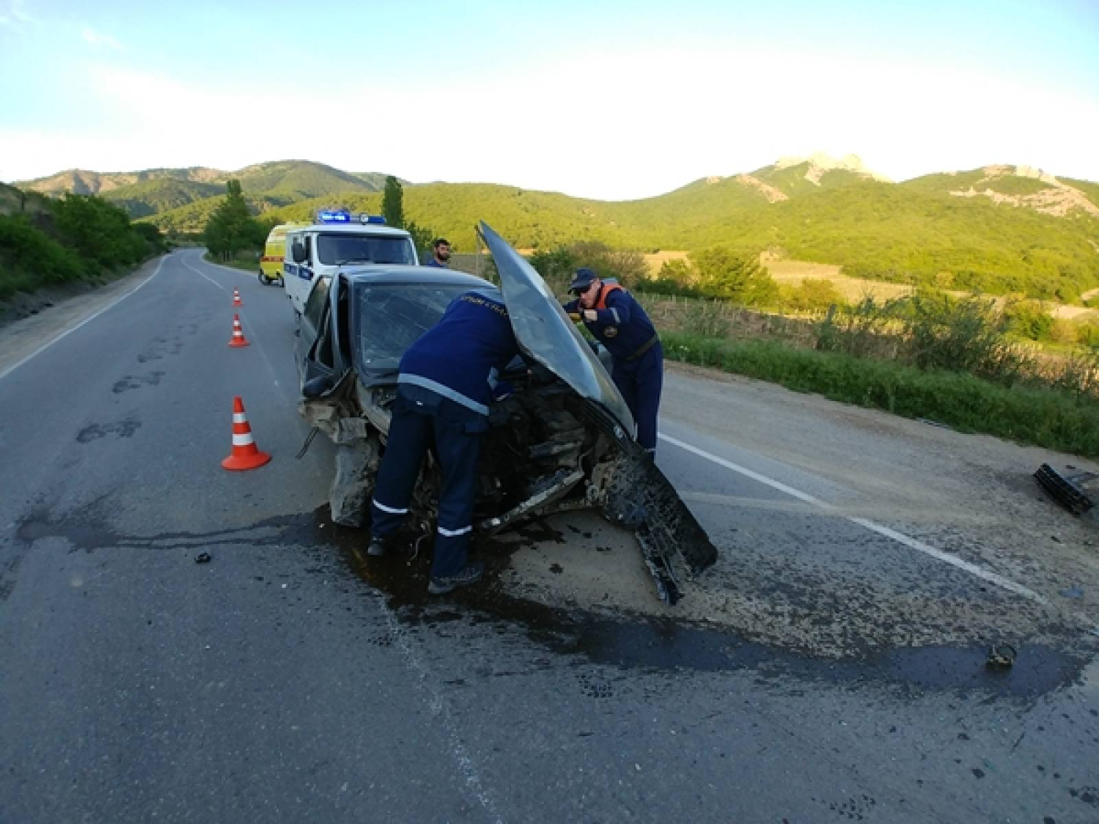 Фото новости - ДТП на трассе Судак-Грушевка