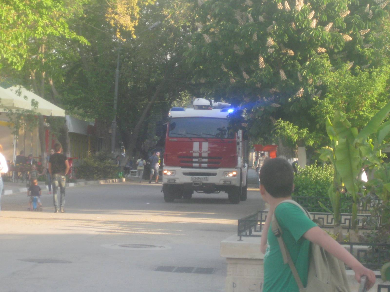 Фото новости - Пожарные в музее древностей