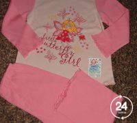 Пижама для девочки на рост 110-116