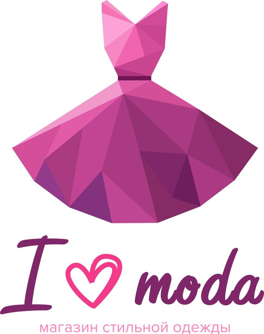 Логотип i love moda 2