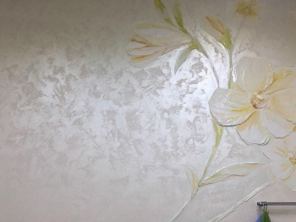 Декоративное покрытие с перламутровым эффектом россыпи драгоценного песка для Ваших стен