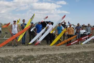 Соревнования по авиамоделизму в Феодосии