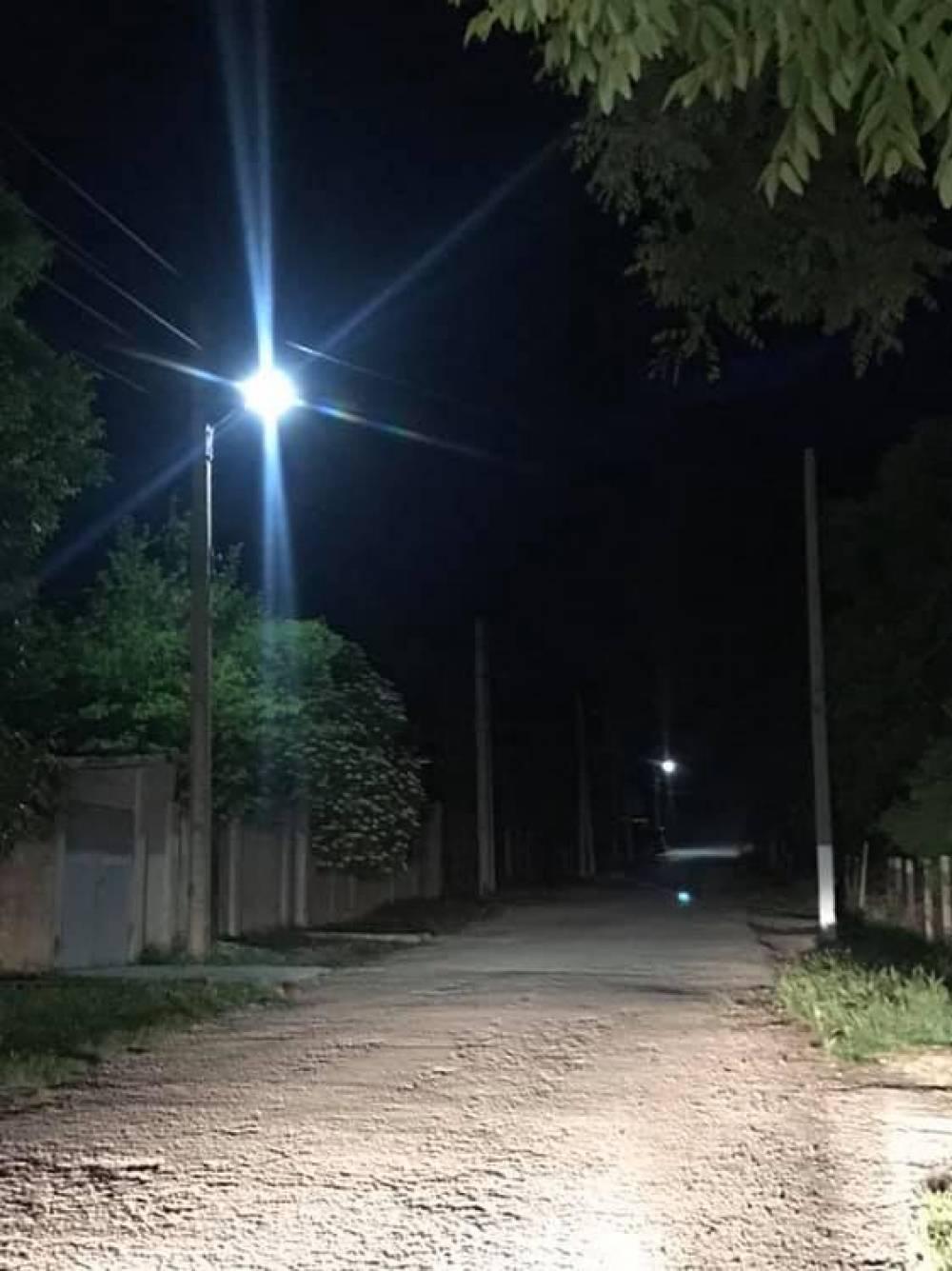 В Наниково вернули уличное освещение