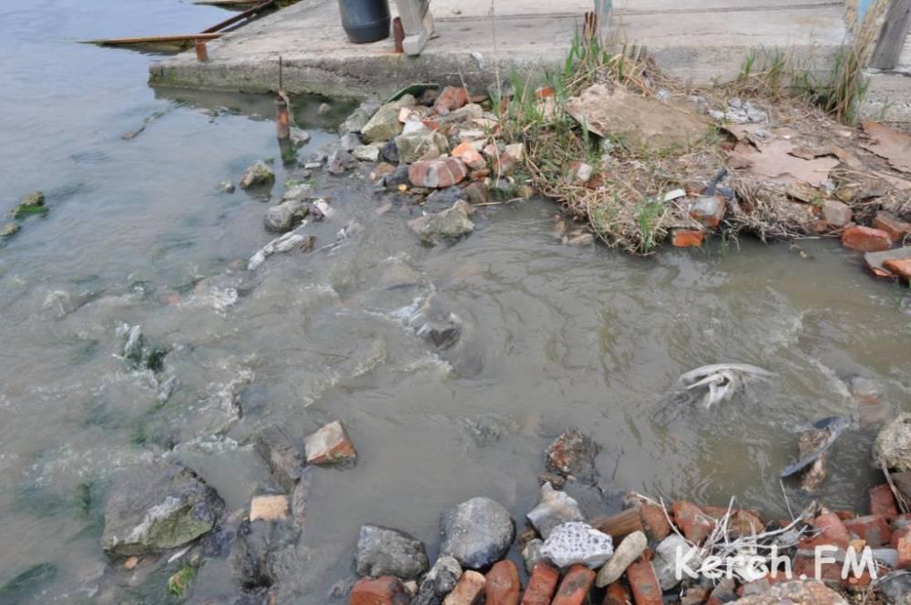 Сброс нечистот в Керчи