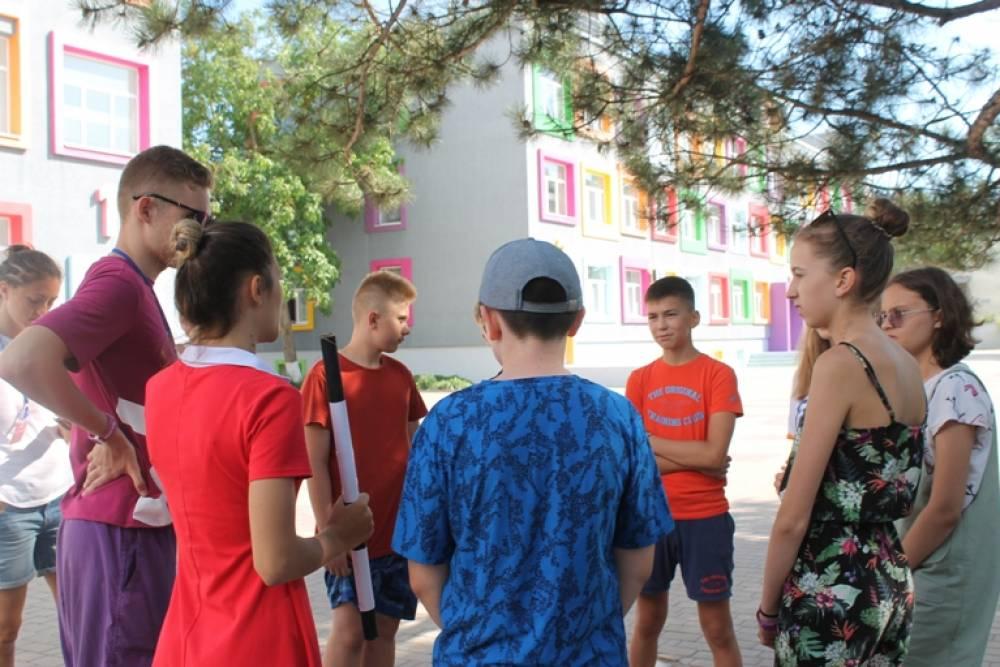 Ребята из евпаторийского лагеря Смарт Кемп стали участниками полицейского квеста #БезопасноеЛето