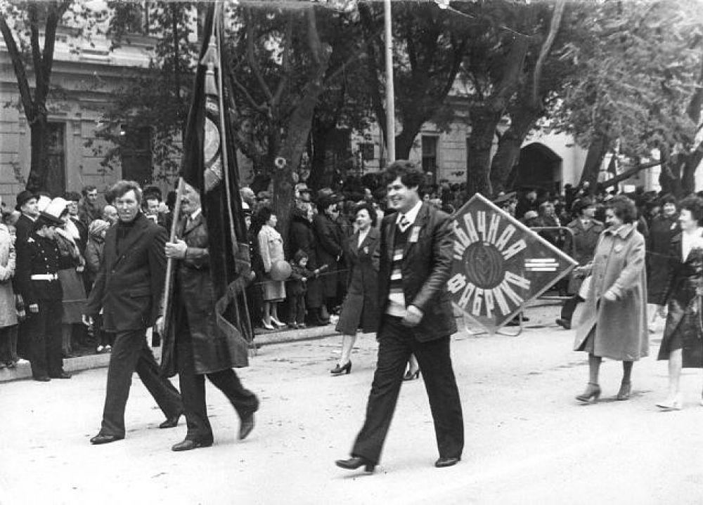 Архивные снимки ноябрьских демонстраций в Феодосии