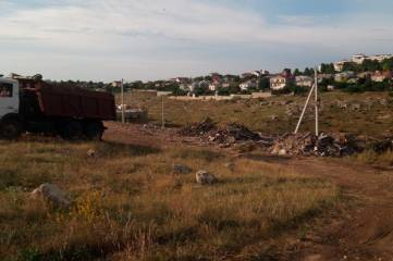 В Севастополе обнаружили гигантскую свалку строительного мусора