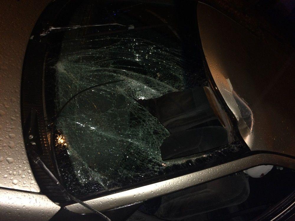 За секунды до того, как сбить ребенка на Челноках, водитель пытался обогнать авто и выехал на «встречку»  (ФОТО)
