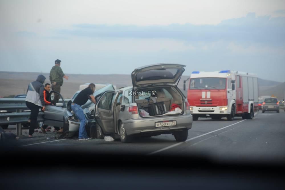 Рано утром на Тавриде произошла серьезная авария