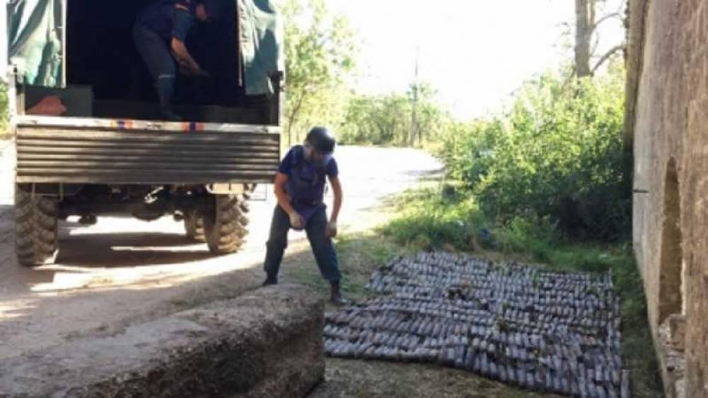 В Крыму подорвали склад с несколькими сотнями авиабомб