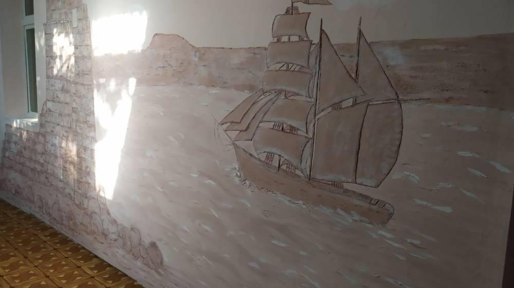 В детском саду появился уголок Айвазовского