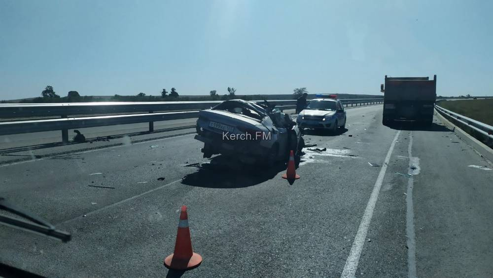 На «Тавриде» в районе Горностаевки произошла серьезная авария