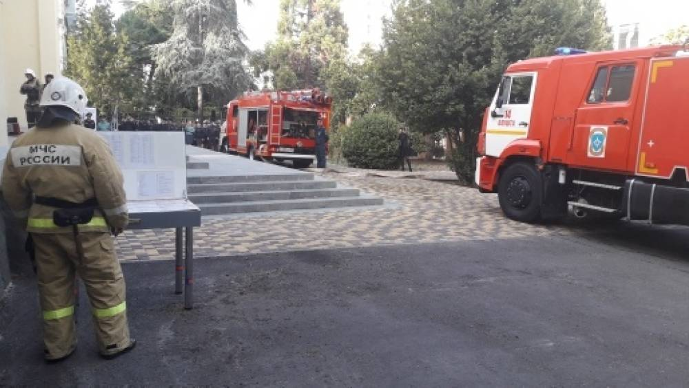 Пожарно-тактические учения в Алуштинском городском суде