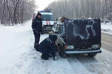 Женщина на «четверке» застряла на феодосийской трассе (ФОТО)