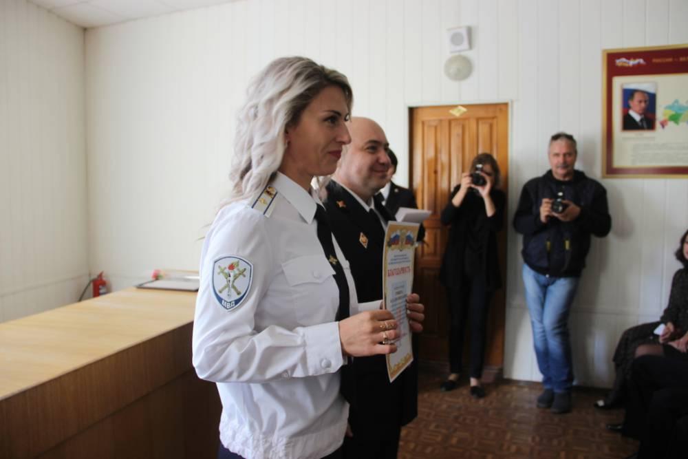 Сотрудники феодосийской полиции принимали поздравления