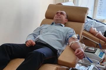 Сотрудники ГИБДД по г. Феодосии сдали кровь для пострадавших в авариях