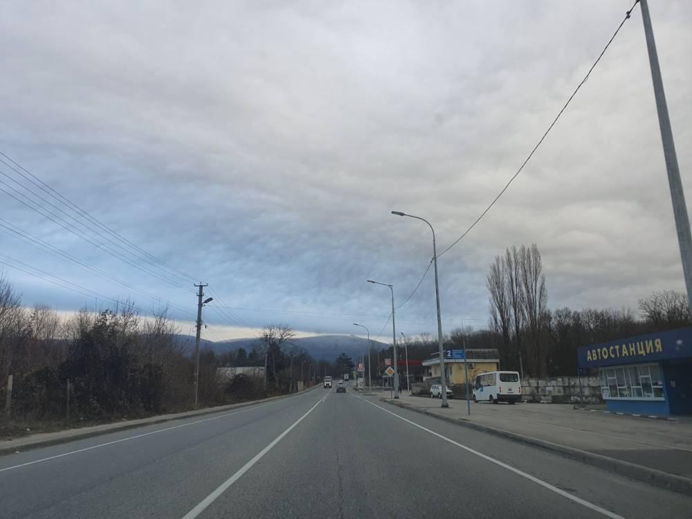 облака, ненастье, горы, богатое, трасса