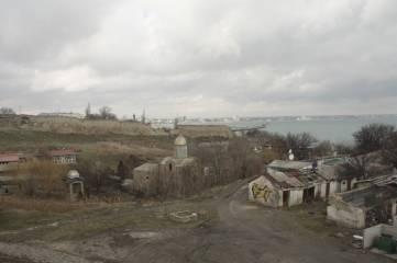 Доковая башня и феодосийский залив