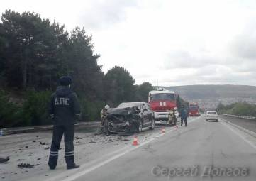На президентской трассе под Севастополем произошла жёсткая авария
