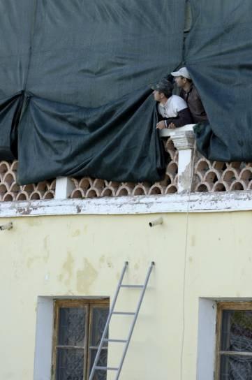 Реставрируют фасад феодосийской галереи Айвазовского со стороны проспекта