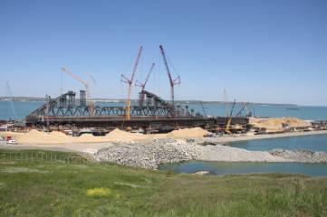 «Фео.РФ» на строительстве Крымского моста (фото)
