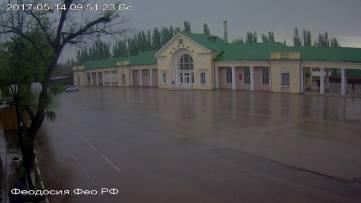 Дождь в Феодосии (Фото с веб-камер)
