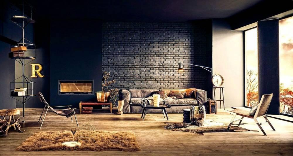 интерьер, кирпич, панели, краска,стены