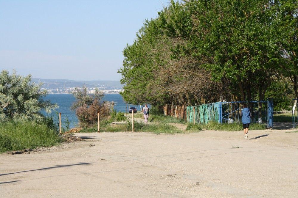 Оползень в районе школы под Феодосией