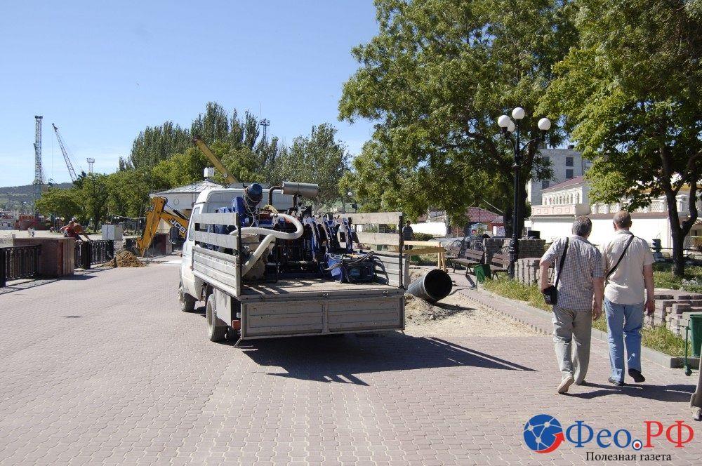 После «прокола» на первом переезде набережной Феодосии