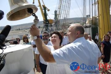 Первыми парусник «Херсонес» в Феодосии принял гостей из Совета министров