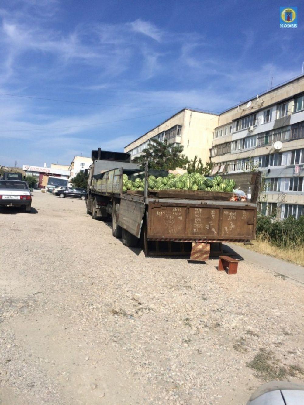 В Феодосии привлекут к ответственности торговцев за попытку незаконно продать 7 тонн арбузов