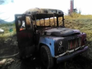В Коктебеле сгорел автобус (ФОТО)