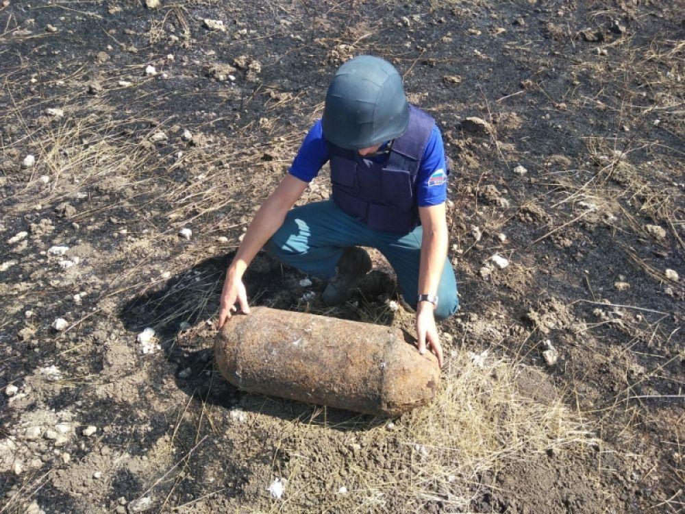 Пиротехники обезвредили 100-килограммовую фугасную бомбу в Ленинском районе