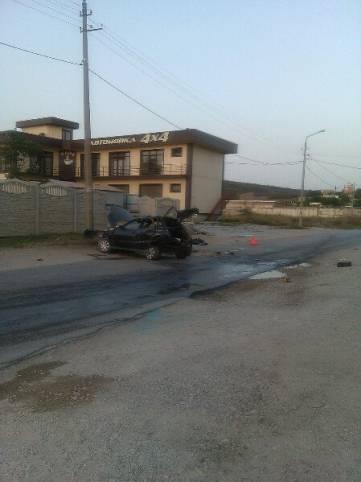 Ночное ДТП в Феодосии: столкнулись две легковушки (ФОТО)
