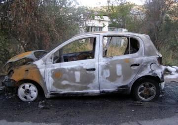 Автопожар под Феодосией: сгорела Toyota