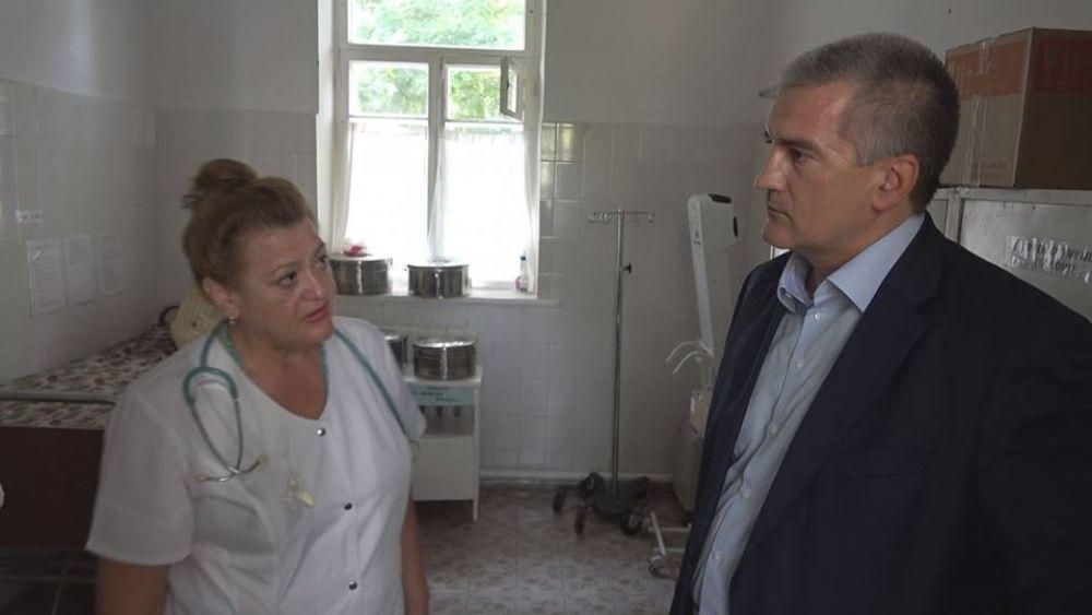 Глава Крыма посетил феодосийскую горбольницу и пообещал помогать в решении ее проблем