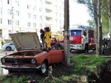 Керченские спасатели ликвидировали условное ДТП (ФОТО)
