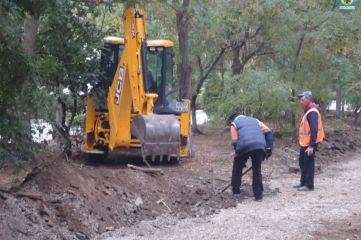 Феодосийский поселок Приморский продолжают благоустраивать