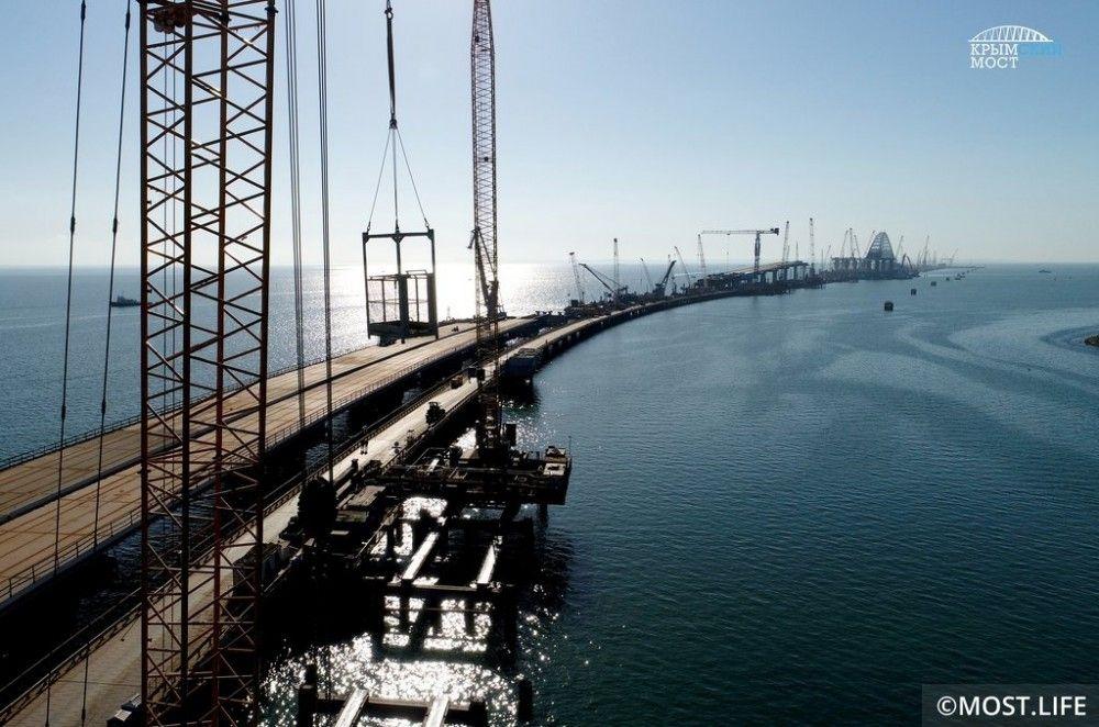 Полотно Крымского моста будет готово в первом квартале 2018 года