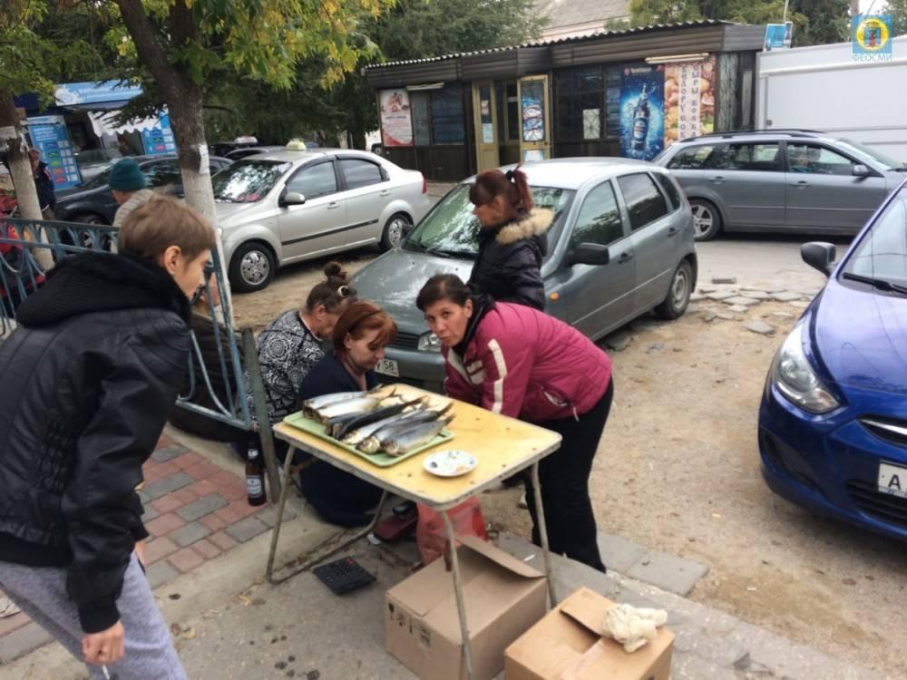 Очередная партия уличных торговцев в Феодосии рискуют заплатить немалые штрафы