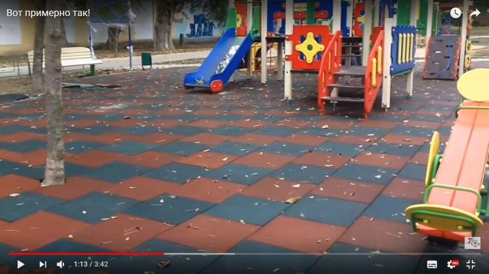 Новая детская площадка в сквере 40-летия Победы