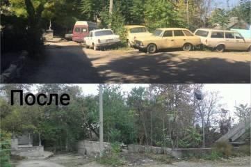 Керченский мунконтроль вывез на штрафплощадку старые легковушки, загромождавшие проезд
